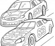 Coloriage Des Automobiles en course