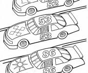 Coloriage et dessins gratuit Des Voiture se Préparent pour la course à imprimer