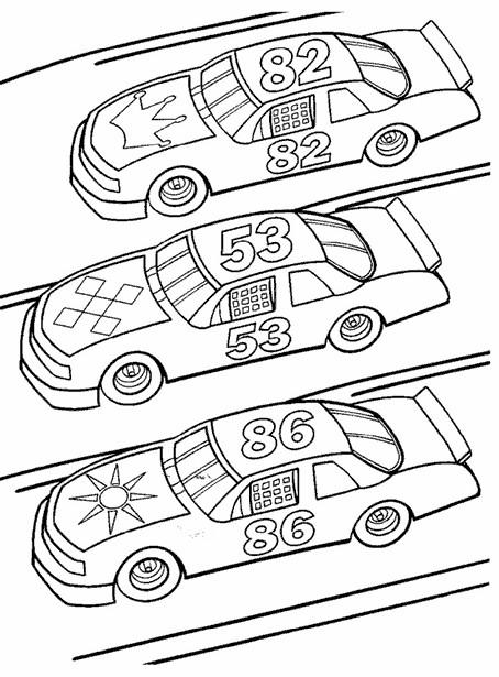 Coloriage et dessins gratuits Des Voiture se Préparent pour la course à imprimer