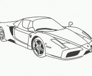 Coloriage Ferrari 1