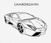 Coloriage et dessins gratuit Lamborghini Huracan à imprimer