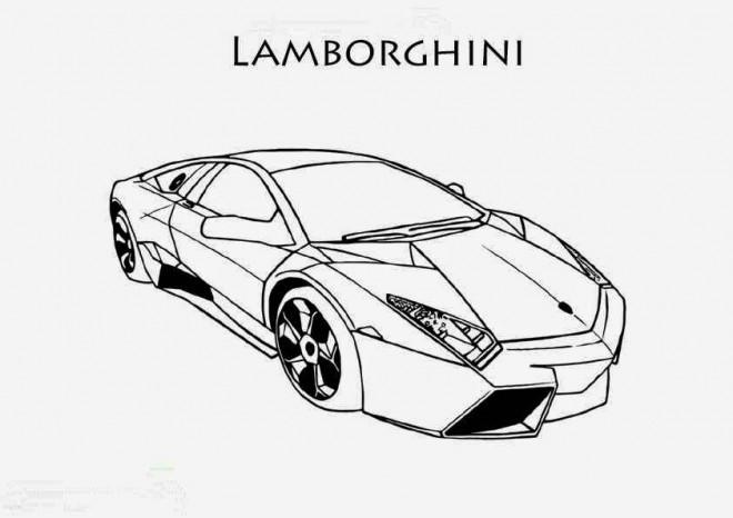 Coloriage et dessins gratuits Lamborghini Huracan à imprimer