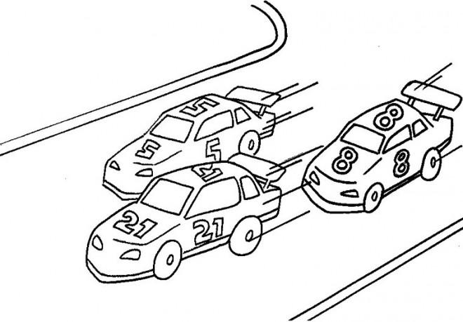 Coloriage et dessins gratuits Paysage de course de Voiture à imprimer