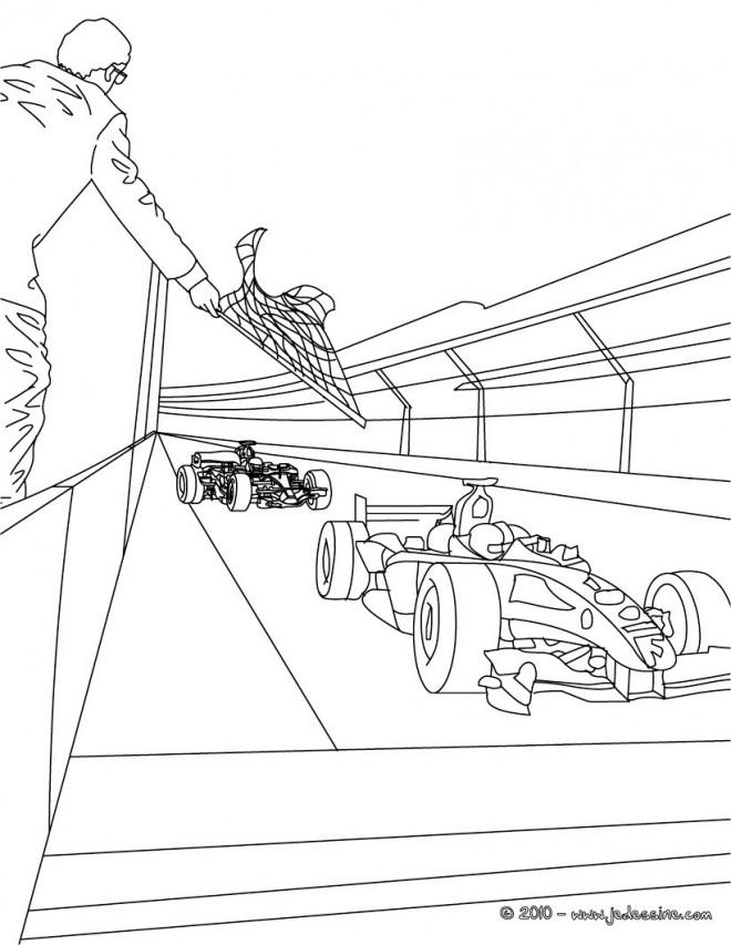 Coloriage et dessins gratuits Paysage de Course Formule 1 à imprimer