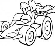 Coloriage et dessins gratuit Petite voiture de course à imprimer