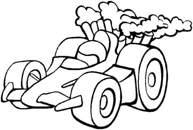 Coloriage et dessins gratuits Petite voiture de course à imprimer