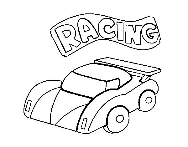 Coloriage et dessins gratuits Petite Voiture de Course pour enfant à imprimer