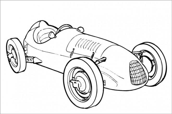 Coloriage voiture ancienne de course dessin gratuit imprimer - Coloriage de voiture de courses ...