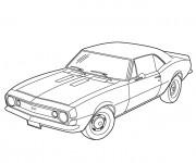 Coloriage et dessins gratuit Voiture Chevrolet à imprimer