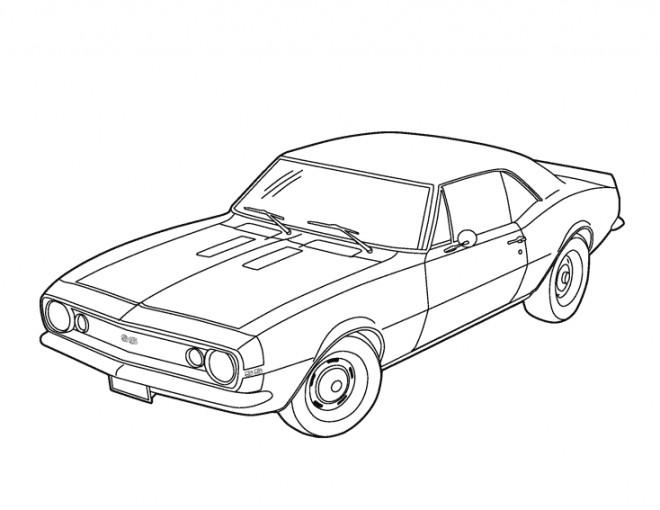 Coloriage et dessins gratuits Voiture Chevrolet à imprimer