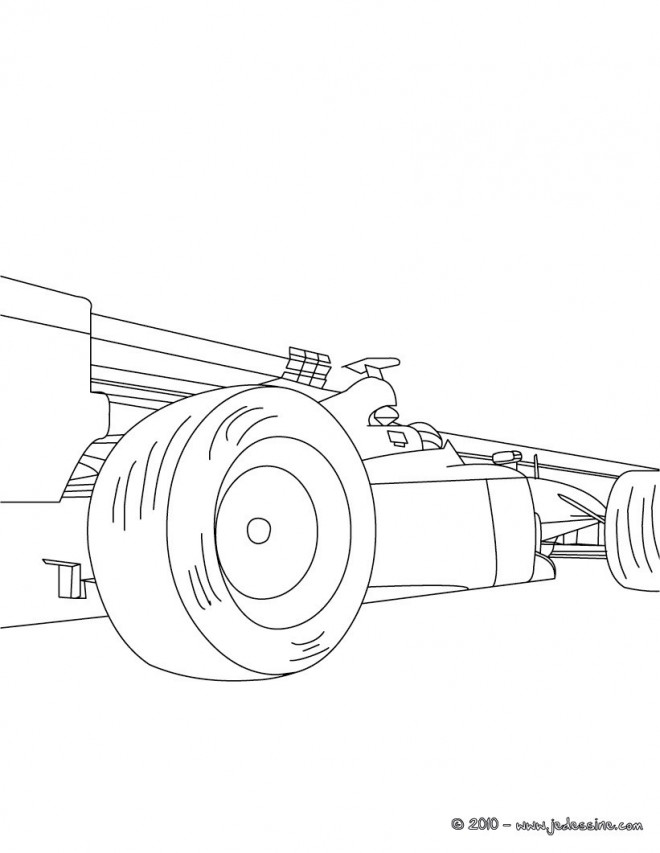 Coloriage voiture de course formule 1 stylis - Dessin de voiture simple ...