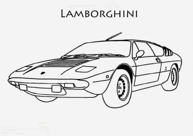 Coloriage et dessins gratuits Voiture de Course Lamborghini à imprimer