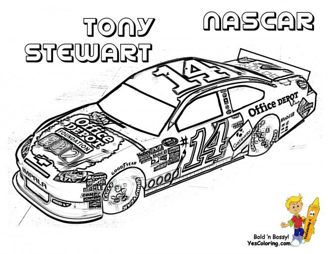 Coloriage voiture de course nascar de tony stewart - Cars a colorier et a imprimer ...