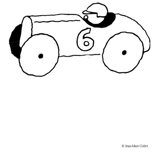 Coloriage et dessins gratuits Voiture de Course pour enfant à imprimer