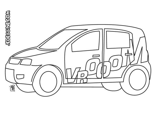 Coloriage voiture de rallye facile dessin gratuit imprimer - Coloriage voiture de rallye ...