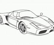 Coloriage et dessins gratuit Voiture Ferrari F12 à imprimer