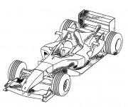 Coloriage et dessins gratuit Voiture McLaren  de Formule 1 à imprimer