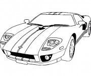 Coloriage Voiture Sport Ford