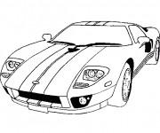 Coloriage et dessins gratuit Voiture Sport Ford à imprimer