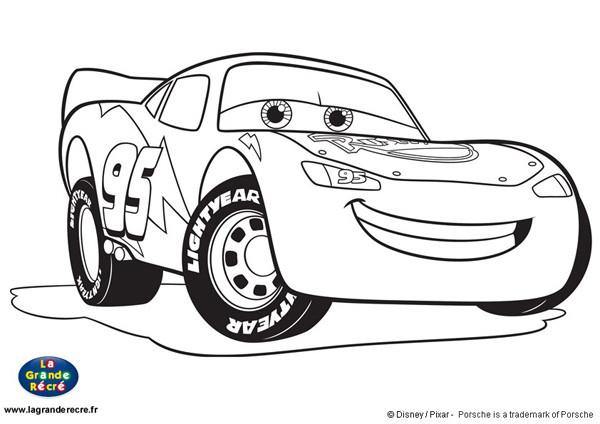 Coloriage auto flash mcqueen dessin gratuit imprimer - Coloriage flash mcqueen en ligne ...