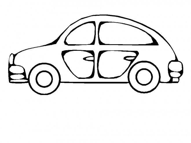 Coloriage et dessins gratuits Automobile facile à imprimer