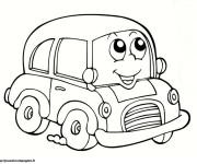 Coloriage et dessins gratuit Automobile tout souriant à imprimer