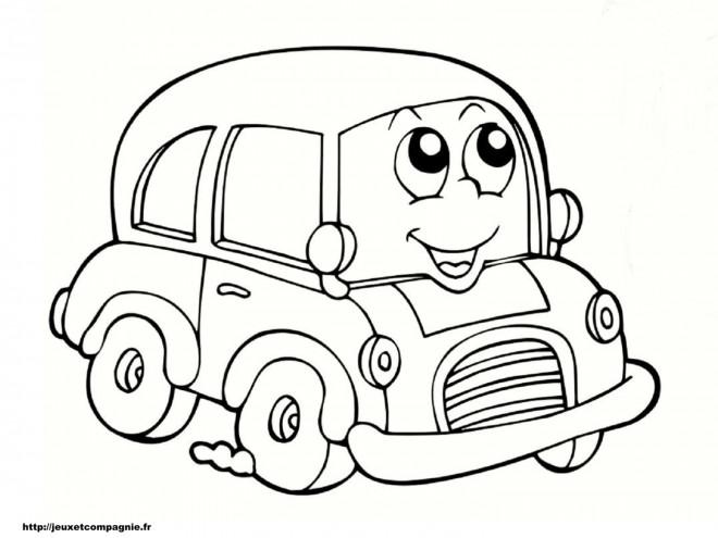 Coloriage et dessins gratuits Automobile tout souriant à imprimer