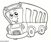 Coloriage Bus rigolo