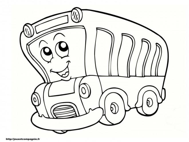 Coloriage et dessins gratuits Bus rigolo à imprimer