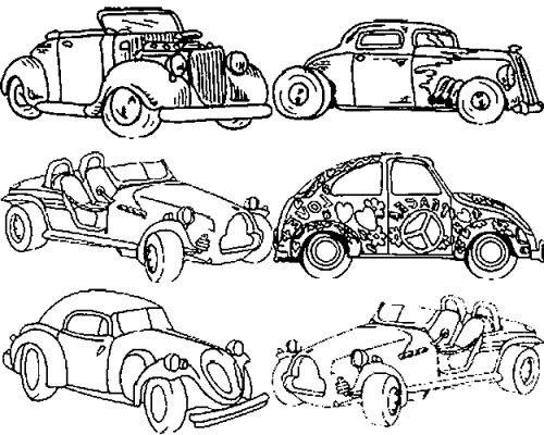 Coloriage des voitures classiques dessin gratuit imprimer - Accident de voiture dessin ...
