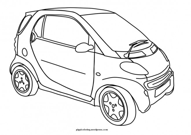 Coloriage et dessins gratuits Une Mini voiture à imprimer
