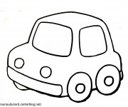 Coloriage Une Voiture simple