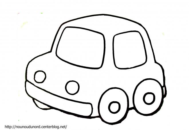 coloriage une voiture simple dessin gratuit imprimer. Black Bedroom Furniture Sets. Home Design Ideas