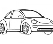 Coloriage et dessins gratuit Une Voiture volkswagen à imprimer