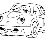 Coloriage et dessins gratuit Voiture avec un visage à imprimer