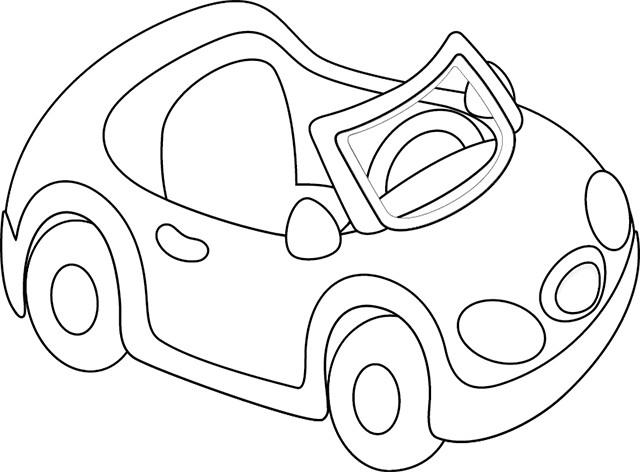 Coloriage et dessins gratuits Voiture cabriolet pour enfant à imprimer