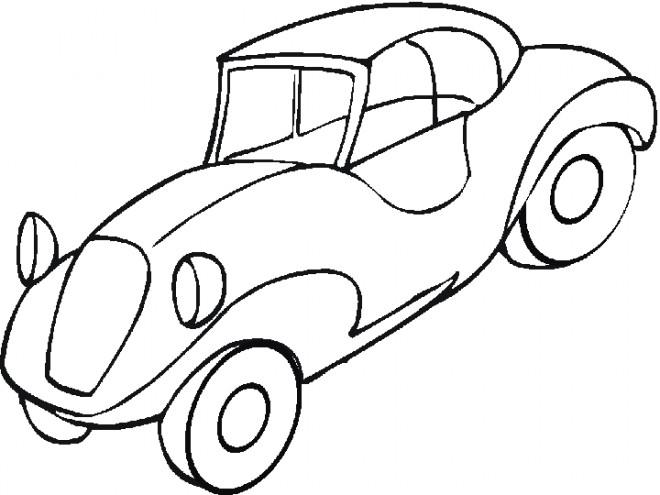 Coloriage et dessins gratuits Voiture classique stylisé à imprimer