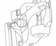 Coloriage et dessins gratuit Voiture de Course F1 à imprimer