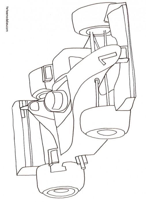 Coloriage et dessins gratuits Voiture de Course F1 à imprimer