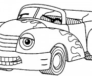 Coloriage et dessins gratuit Voiture décapotable souriante à imprimer