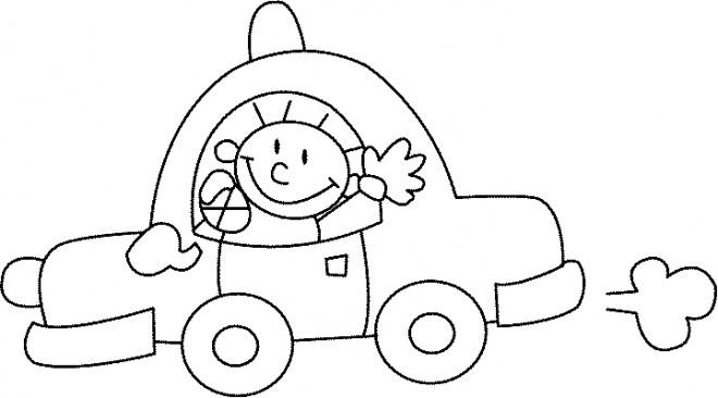 Coloriage voiture enfant 11 dessin gratuit imprimer - Coloriage voiture enfant ...