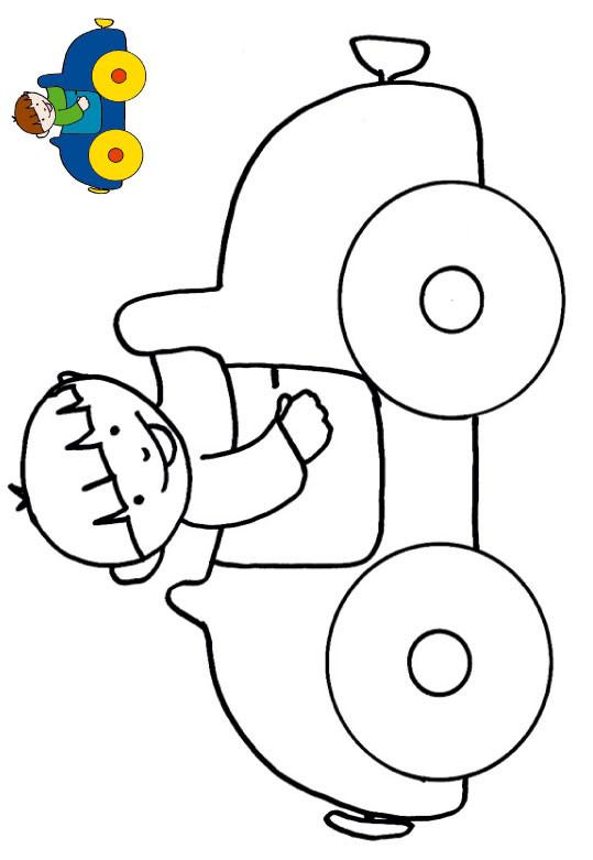 Coloriage et dessins gratuits Voiture Enfant à colorier à imprimer