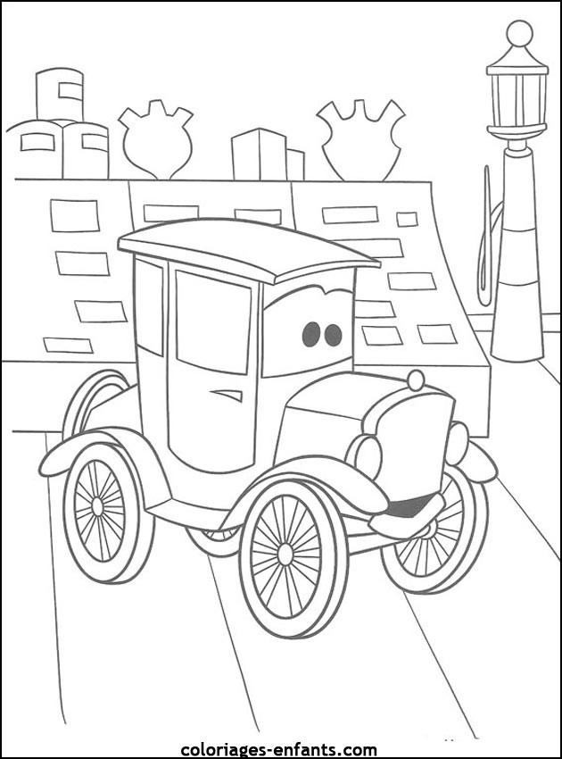 Coloriage et dessins gratuits Voiture Enfant dessin animé à imprimer