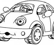 Coloriage et dessins gratuit Voiture Enfant humoristique à imprimer