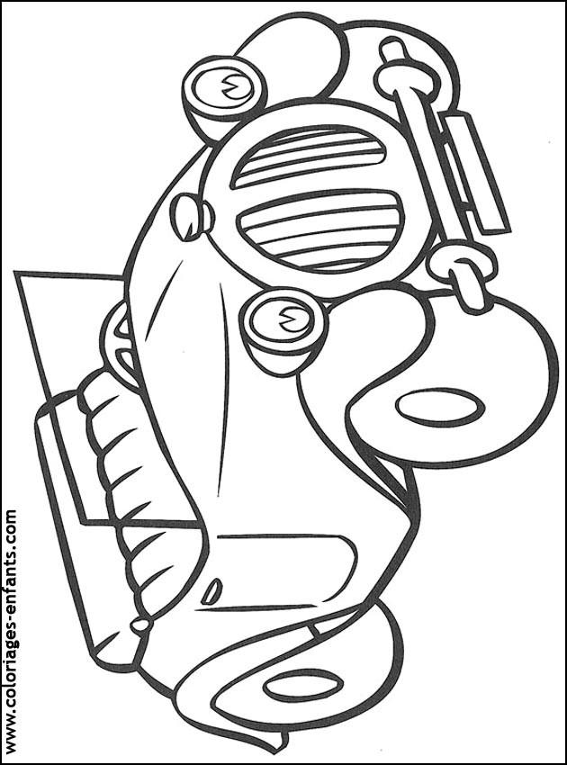 Coloriage et dessins gratuits Voiture Ford pour garçon à imprimer