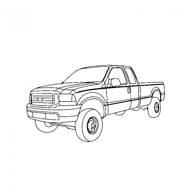 Coloriage et dessins gratuits 4 X 4 Pick up à imprimer