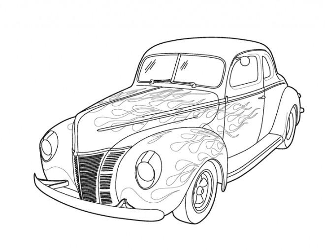 Coloriage ancienne voiture tuning dessin gratuit imprimer - Dessin a colorier de voiture ...