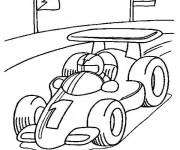 Coloriage et dessins gratuit Auto de course Formule 1 à imprimer