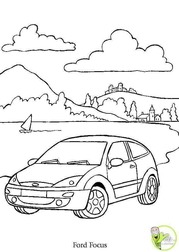 Coloriage et dessins gratuits Automobile et Nature à imprimer
