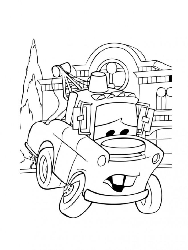 Coloriage et dessins gratuits Camionnette Martin Disney à imprimer